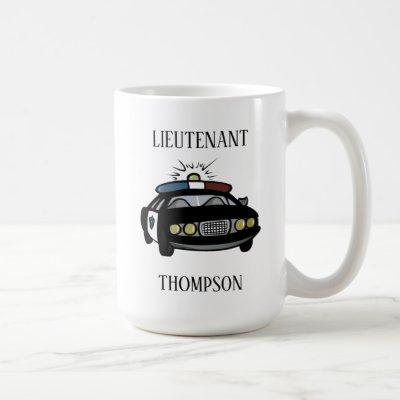 Personalized Police Lieutenant Coffee Mug