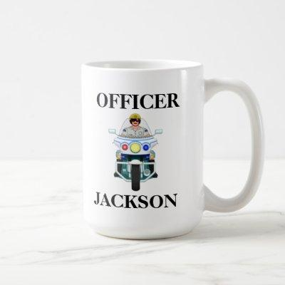 Personalized Police Motorcycle Officer Coffee Mug