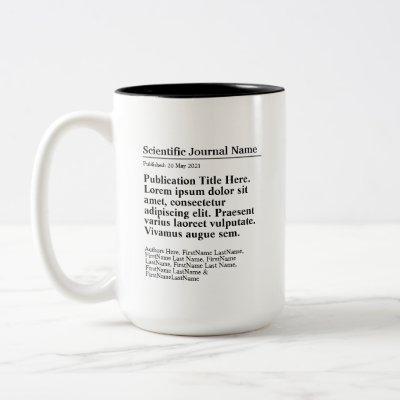 Personalized Publication Two-Tone 15oz Mug