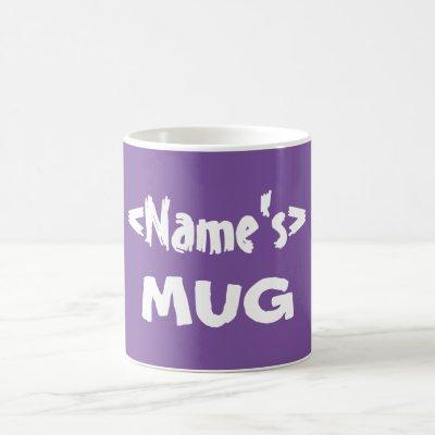 Personalized Purple Name Mug