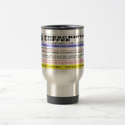 Personalized - Rx LABEL - Prescription Coffee Travel Mug