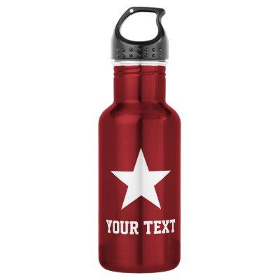 Personalized star logo sports water bottle gift