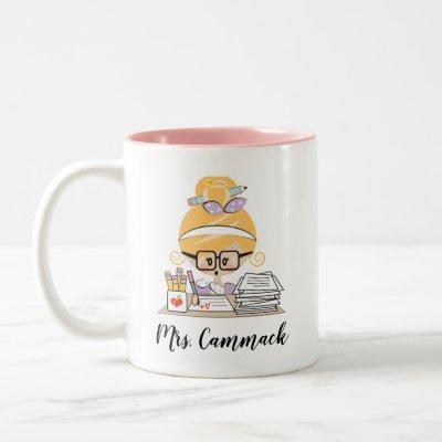 Personalized Teacher Mug Blonde