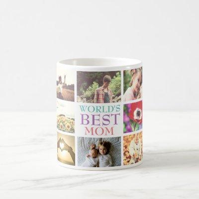 Personalized text custom photo collage coffee mug