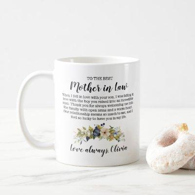 Personalized To The Best Mother In Law  Coffee Mug