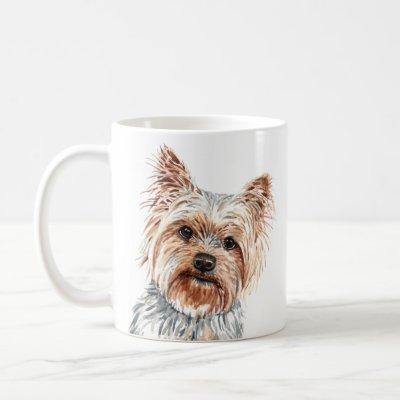 Personalized Watercolor Yorkie Terrier Mug