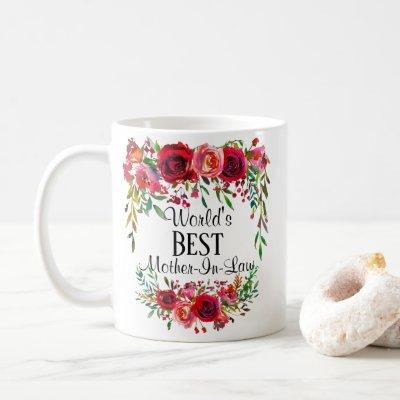 Personalized World's Best Mother-In-Law Coffee Mug