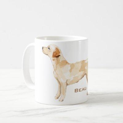 Personalized Yellow Lab Silhouette Coffee Mug