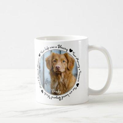 Pet Loss Sympathy Keepsake Dog Pet Memorial Coffee Mug