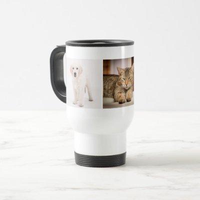Pet photo personalized travel mug