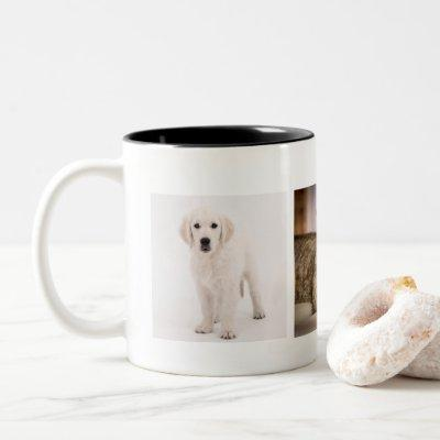 Pet photo personalized Two-Tone coffee mug