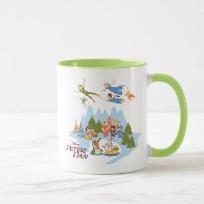 Peter Pan Flying over Neverland Mug