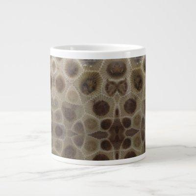 Petoskey stones giant coffee mug