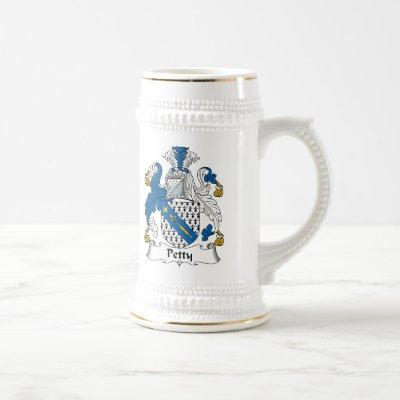 Petty Family Crest Beer Stein