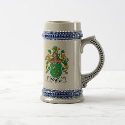 Pfeiffer Family Crest Beer Stein