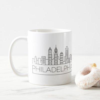 Philadelphia Stylized Skyline Coffee Mug