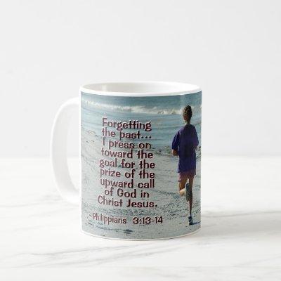 Philippians 3:14 Call of God, Girl Running Coffee Mug