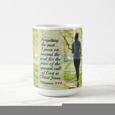 Philippians 3:14 I press toward the upward call Coffee Mug