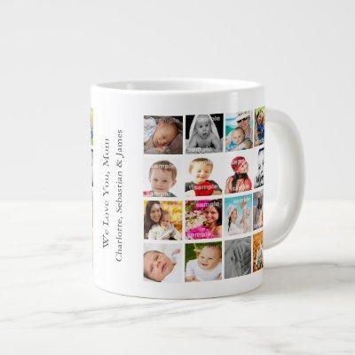 Photo Collage Personalized Custom Large Coffee Mug
