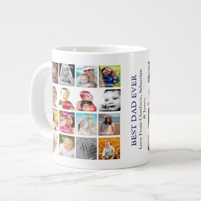 Photo Collage Personalized Giant Coffee Mug