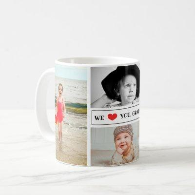 Photo Collage We Love You Grandma Coffee Mug