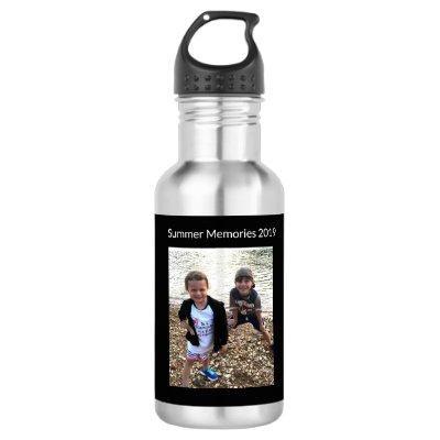 Photo Memories Custom Water Bottle