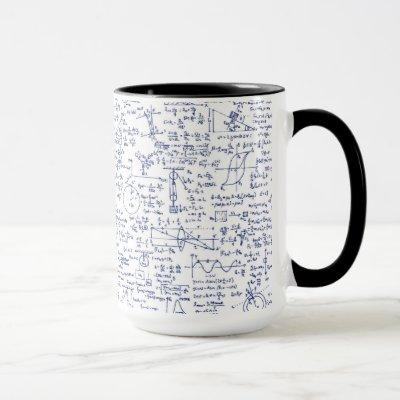 Physics Equations in Blue Pen // Mug