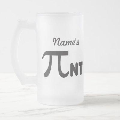 Pi Day Funny Pi-nt 2011 © Personalized Mug