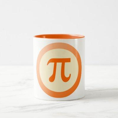Pi Symbol Two-Tone Coffee Mug