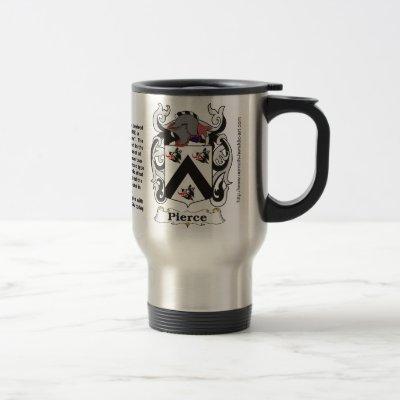 Pierce Family Coat of Arms Travel Mug
