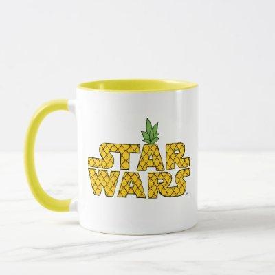 Pineapple Sketch Star Wars Logo Mug