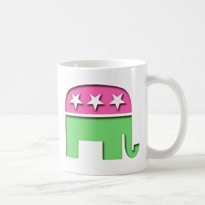 Pink GOP Elephant Coffee Mug