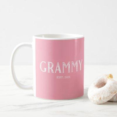 Pink Grammy Year Established Coffee Mug