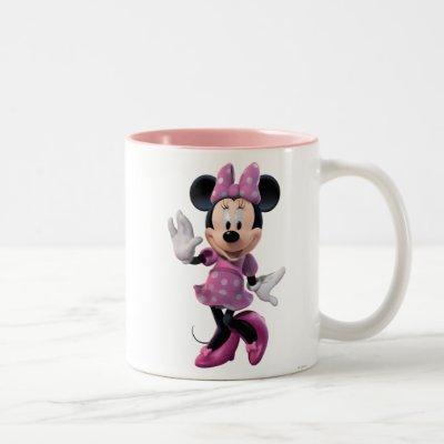 Pink Minnie | Cute Pose Two-Tone Coffee Mug