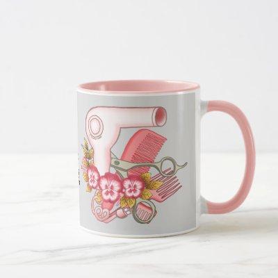 Pink Pansy Beautician Mug