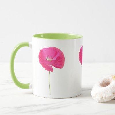 pink poppy mug