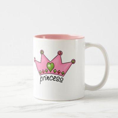 Pink Tiara Princess Two-Tone Coffee Mug