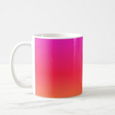 Pink to Orange Modern Gradient Coffee Mug