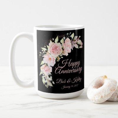 Pink Watercolor Roses Coffee Mug