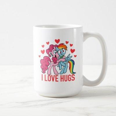 Pinkie Pie & Rainbow Dash - I Love Hugs Coffee Mug