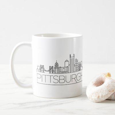 Pittsburgh, Pennsylvania | City Stylized Skyline Coffee Mug