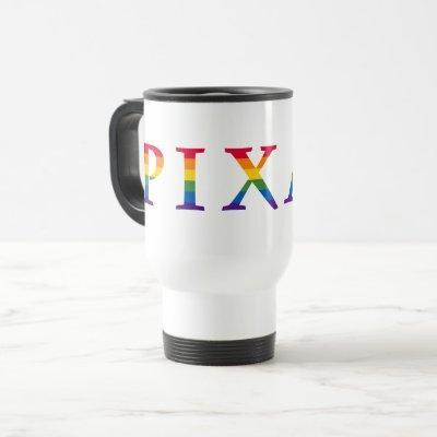 Pixar Rainbow Logo Travel Mug