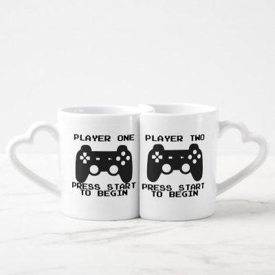 Player One & Two couple mugs
