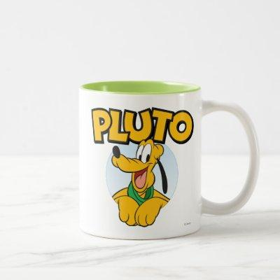 Pluto | Pup with Name Two-Tone Coffee Mug