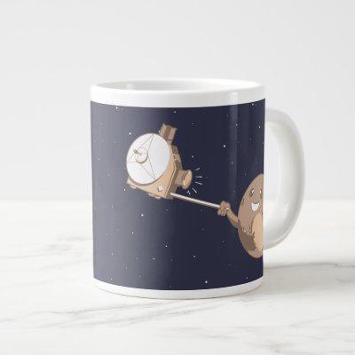 Pluto Selfie Large Coffee Mug