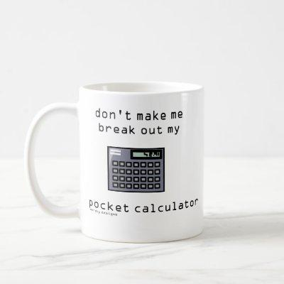 pocket calculator mug