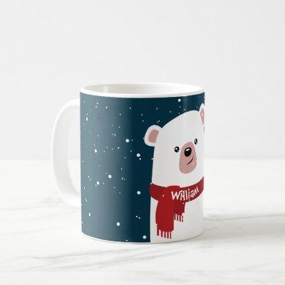 Polar Bear Christmas New Year's Personalized Mug