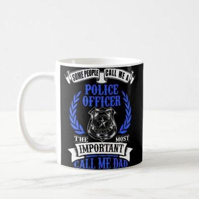 Police Officer Dad Shield Badge Coffee Mug