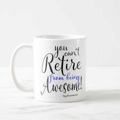 Police Officer Retirement Thin Blue Line Coffee Mug