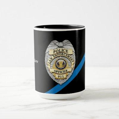 Police Officer Thin Blue Line Mug